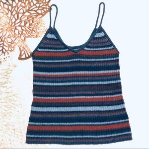🌺 American Eagle Ribbed Sweater Striped Tank Top